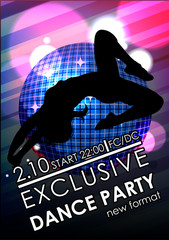 Dance party poster or flyer template