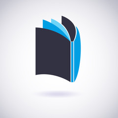 Book icon. Vector Illustration