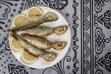 Fried Mackerel in a Plate