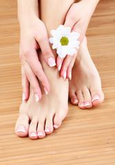 Beauty treatment of a female feet