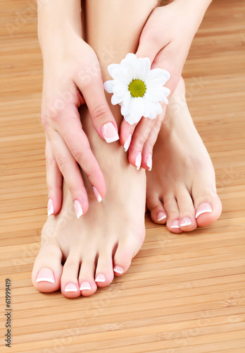 Beauty treatment of a female feet