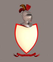 Escudo de armas en blanco