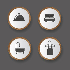 Hotel icons,vector