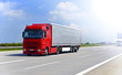 canvas print picture - LKW auf Autobahn