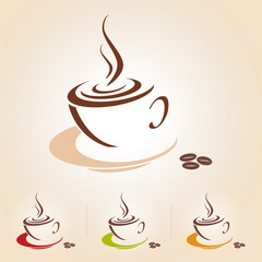 Vector sketch of coffee cup, isolated