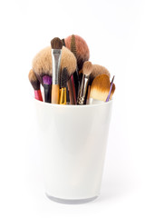 Make up tools in a cup