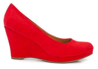 Red female shoe