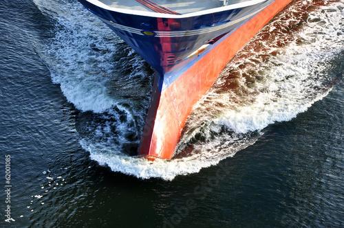 Leinwandbild Motiv Frachtschiff im Hafen