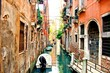 Famous picturesque canals of Venice, Italy