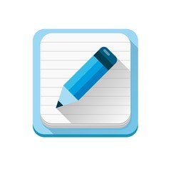 Blue notebook icon