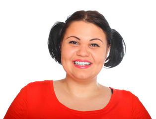 Portrait of a beautiful brunette woman.