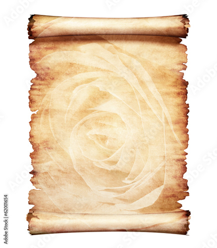 Old Parchment Romantic Paper Background