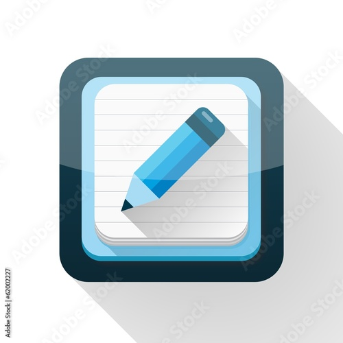Blue notebook button