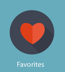 Favorites Flat Icon Concept Vector Illustration