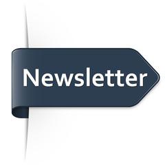 Langer dunkelblauer Sticker Pfeil – Newsletter