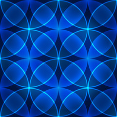 Vector seamless blue pattern made of circles