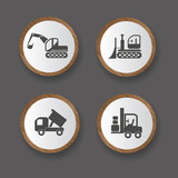 Construction machines icons,vector
