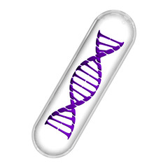 DNA Capsule - Purple & White