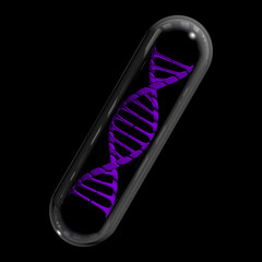DNA Capsule - Purple & Black