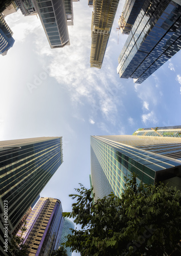 Fish-eye View of the Singapore Skyline