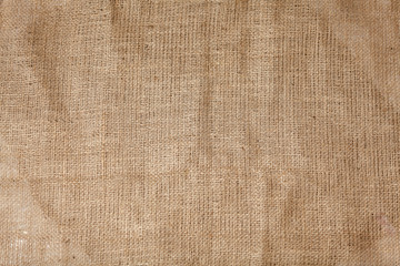 High detailed texture of creased burlap