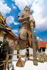 Statue of Guard at Wat Phra Kaeo, Temple. Thailand