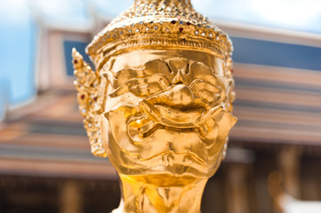 Traditional statue of Guard at Wat Phra Kaeo.Thailand