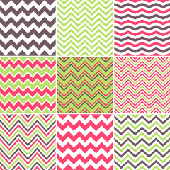 Chevron seamless patterns
