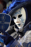 Blue mask with a mirror at Carnival of Venice