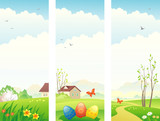 Easter and spring vertical banners