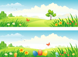 Easter and spring banners