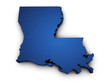 Map Of Louisiana State 3d Shape