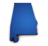 Map Of Alabama State 3d Shape