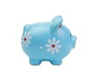 Funny blue piggy-bank