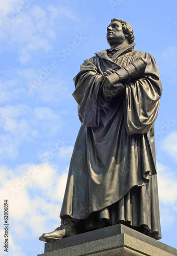 Bronze statue of protestant theologist Luther