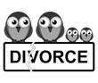 Representation of family divorce or break up