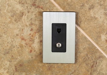 Phone and Cable Internet Hookup Sockets