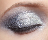 Shining woman eyes makeup