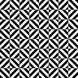 Black and white geometric diamond shape seamless pattern, vector