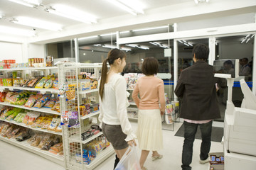 young man who did some shopping at convenience store