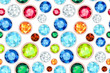 colored gemstone saturated color seamless pattern