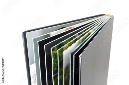 Black photo album isolated on white - 62010044