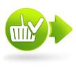 valider le panier sur symbole web vert