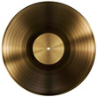 gold or vinyl record disc isolated with clipping path included