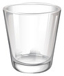 A plain drinking glass