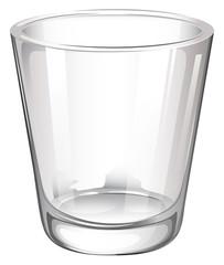 A plain drinking glass