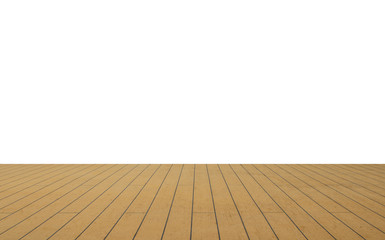 wooden deck isolated on white