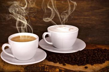 Kaffee und Cappuccino genießen :)