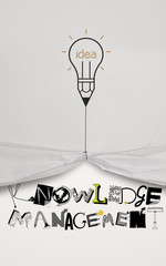 pencil lightbulb idea draw rope open wrinkled paper show graphic