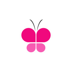 Pink butterfly business logo